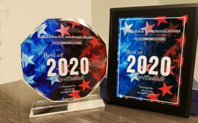 Saddleback Communications Receives 2020 Best of Scottsdale Award